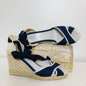Coach Mila Espadrille Ankle Wrap Sandal Size 10
